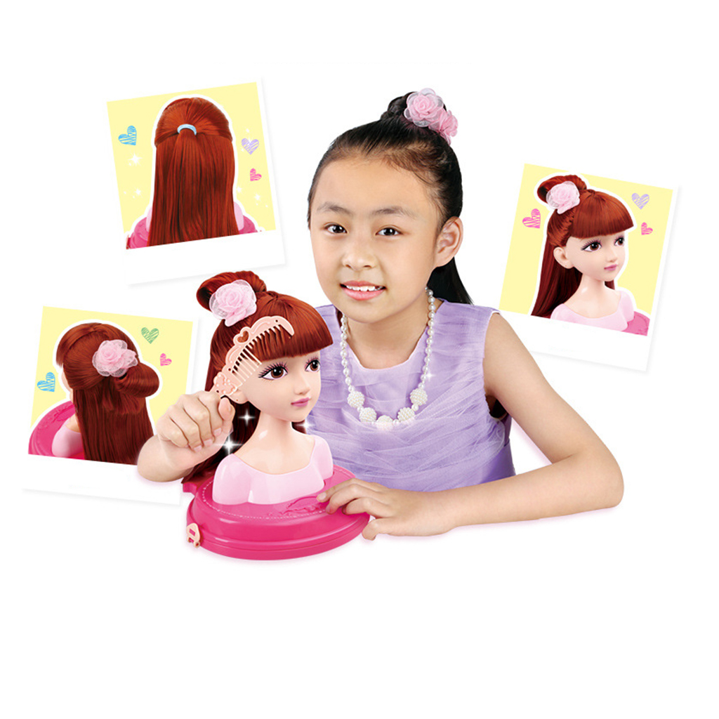 Fashion Hair Styling Dolls Head Play Set Kids Childs Toy Beauty Girl Gift