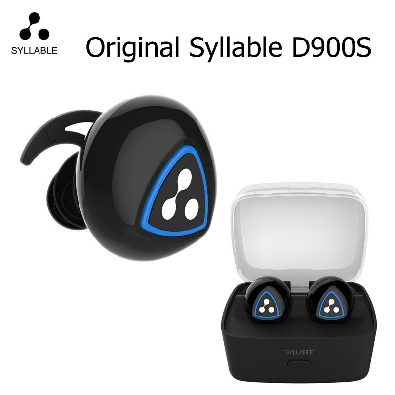 100% original Syllable D900S Bluetooth Stereo Earphone Wireless Music Headset Handsfree Mini Earbud fone de ouvido black &white bluetooth earphone wireless music headphone car kit handsfree headset phone earbud fone de ouvido with mic remax rb t9