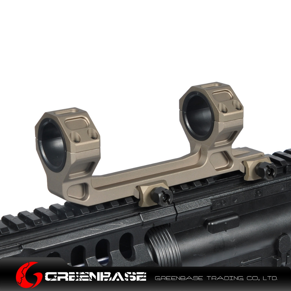 Greenbase Tactical AR15 Scope Mount Gun Rifle Optic Mount 25.4mm/30mm QD Rings Mount With Bubble Level For 20mm Picatinny Rail