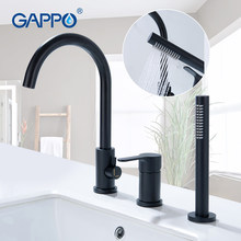 GAPPO black bathtub faucets bathroom shower faucet bath mixer shower wall waterfall Split bathtub faucet(China)