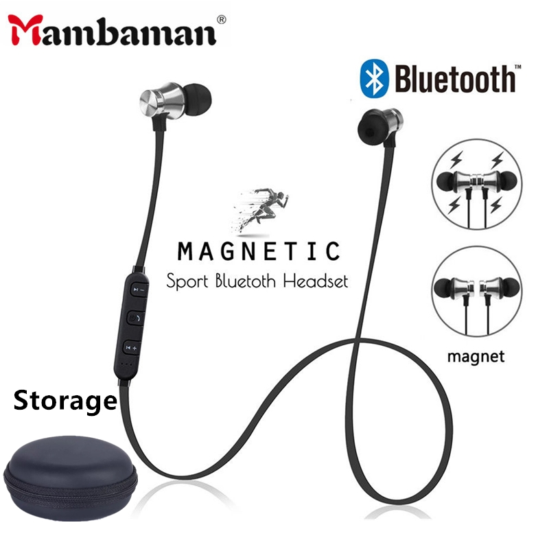 Magnetic Wireless Bluetooth Earphone Stereo Sports Waterproof Earbuds Wireless In-ear Headset Xt11 With Mic For IPhone 7 Samsung