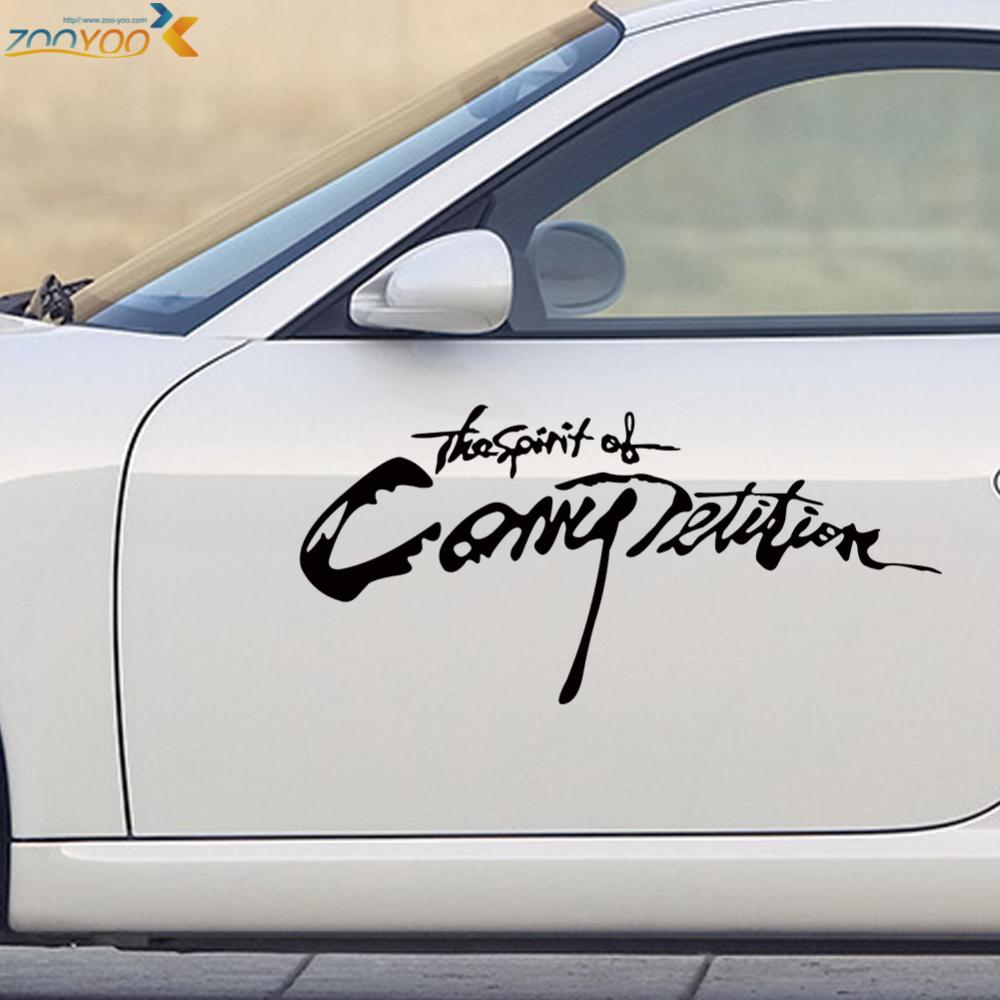 Car sticker design competition - The Spirit Competition Quotes Car Stickers Decorations 403 Diy Removable Vinyl Decals Wall Art Adesivo