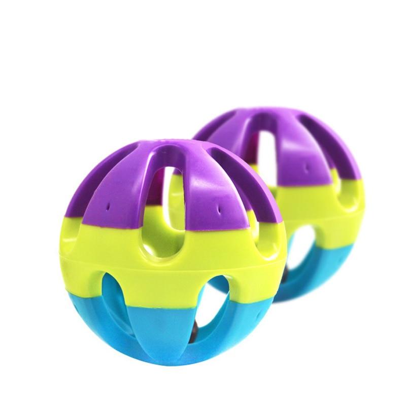 1 stücke Bunte Ball Haustier Spielzeug Happy Jingle Bell Ball - Haustier-Produkte