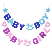 To chłopiec dziewczynka baner prysznicowy dla dziecka płeć ujawnia włókniny Garland dekoracje na imprezę urodzinową tanie tanio YONGSNOW CN (pochodzenie) List 11bb494 Włókniny tkaniny Płeć Reveal Party