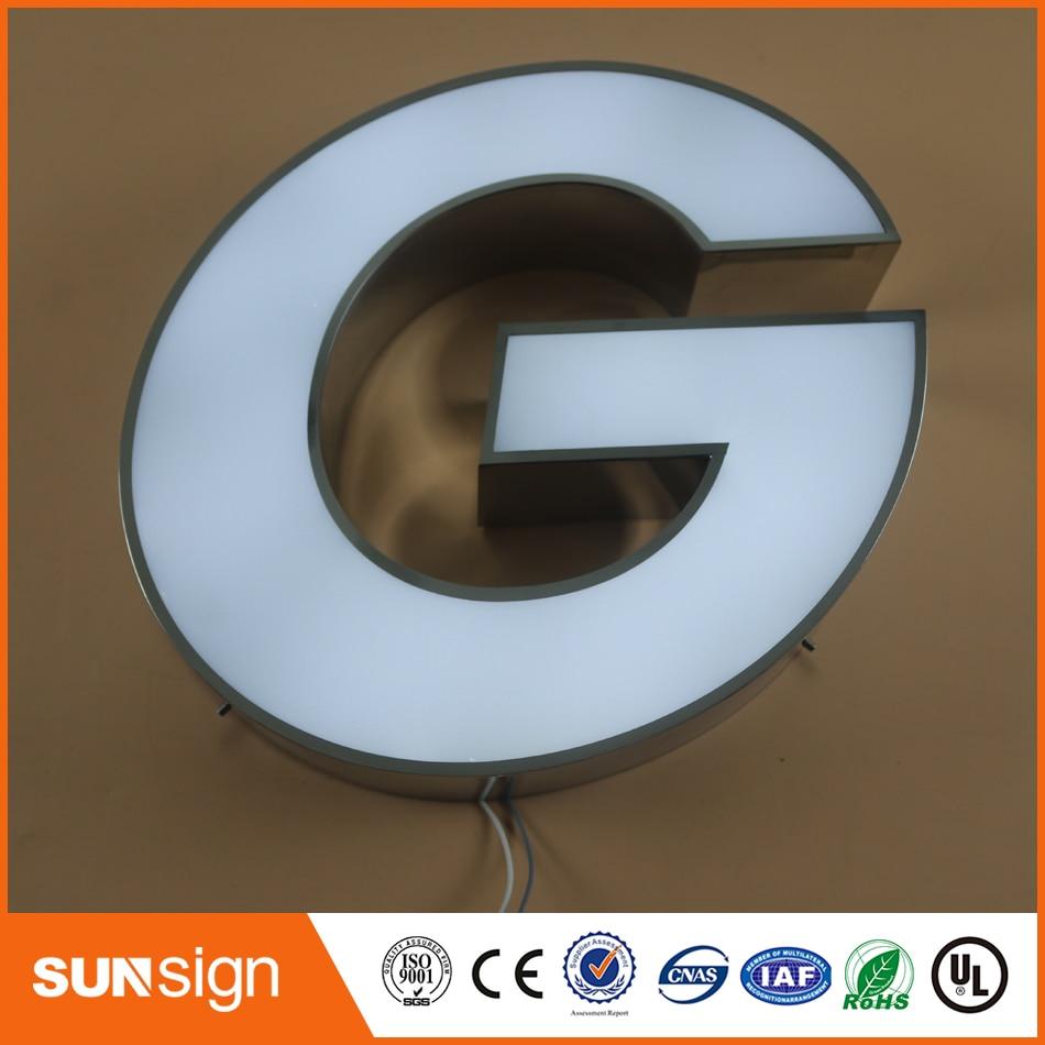 Custom Front Door Designs Frontlit 3d Led Letter Sign