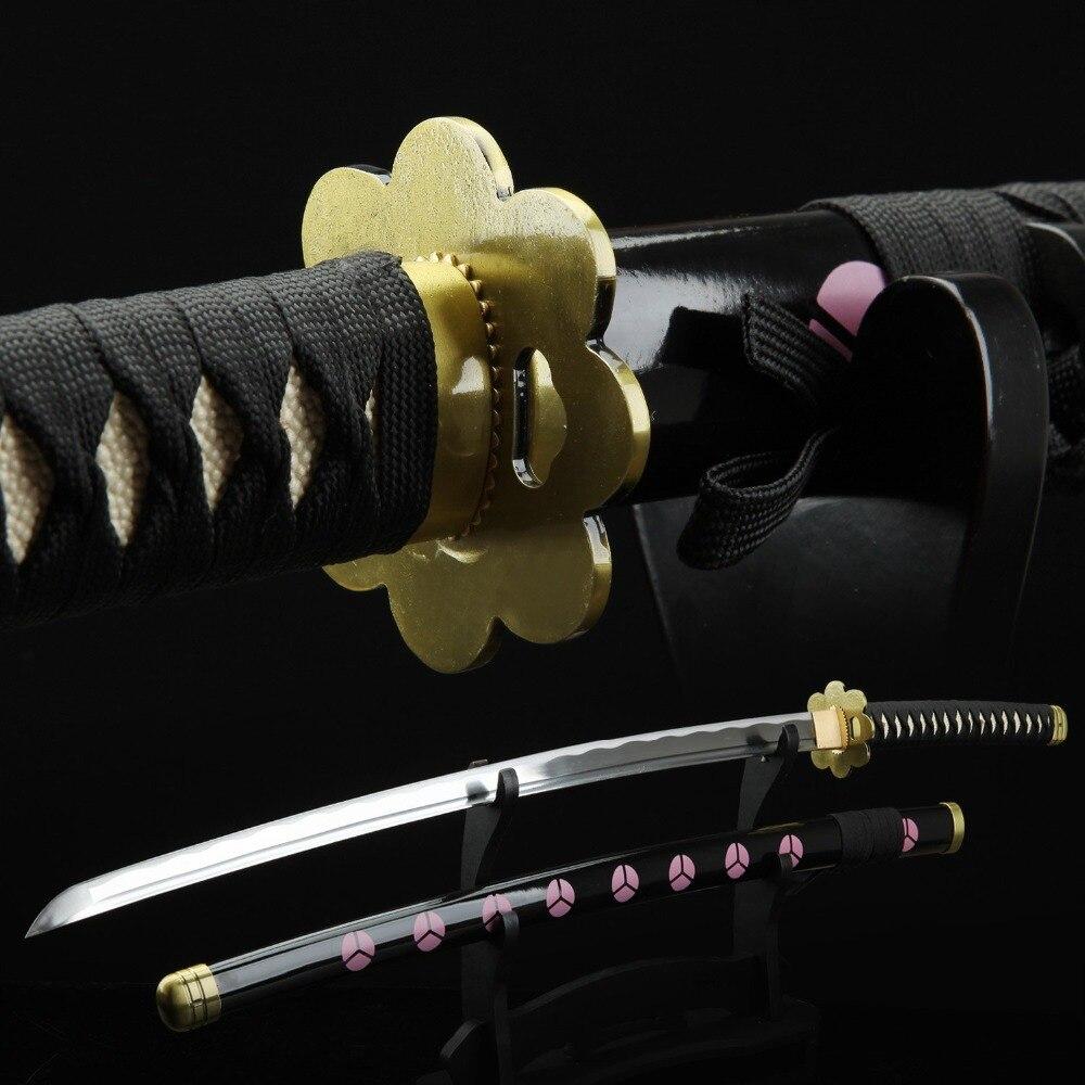 Une pièce Roronoa Zoro Cosplay épée Shuusui japonais Anime jeu Katana 1045 acier au carbone tranchant lame