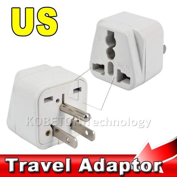 3 Pin US Plug Home Travel Adapter Portable Electrical Wall Socket EU ...