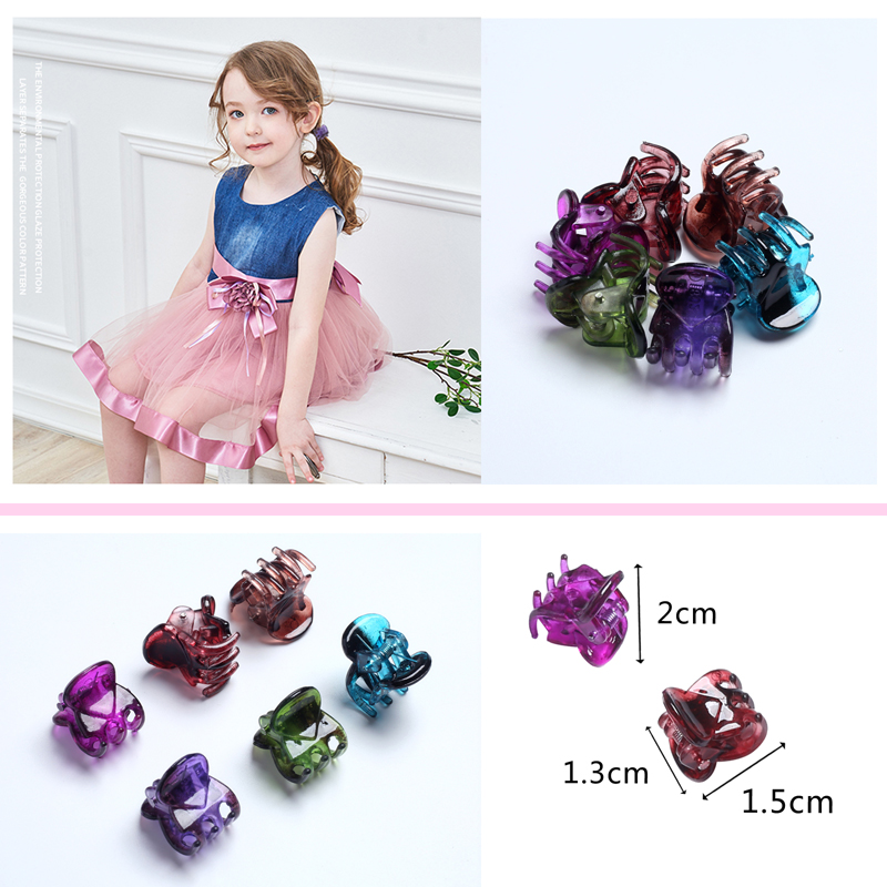 12pcs Small Crab Hair Clips Clamp For Hair Styling Color Barrettes Jaw Hair Grip Clip Pins Children Hairpin For Baby Women Girls