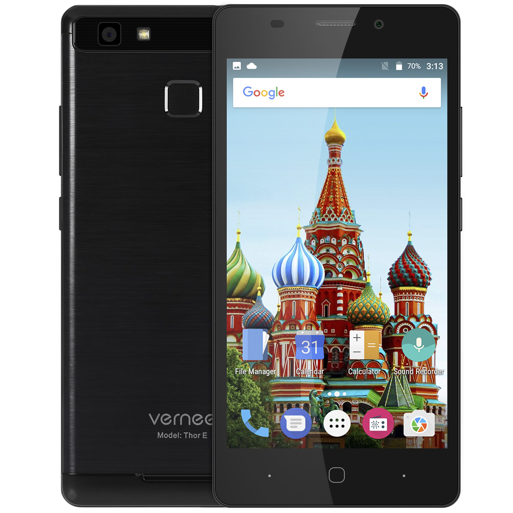 Vernee Thor E Android Mobile Phone 4G Smartphone 5020mAh Battery OctaCore MTK6753 1.3GHz 3GB RAM 16GB ROM Touch Sensor MetalBody