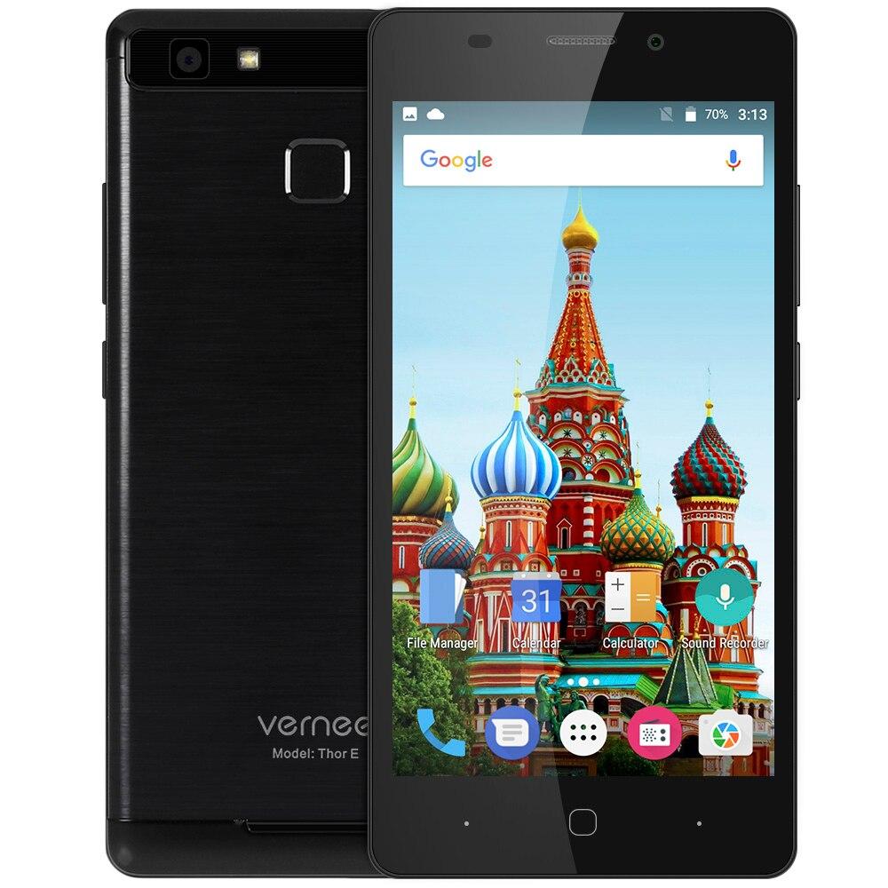 Vernee Thor E Android Mobile Téléphone 4G Smartphone 5020 mAh Batterie OctaCore MTK6753 1.3 GHz 3 GB RAM 16 GB ROM Tactile Capteur MetalBody