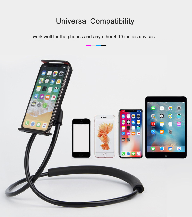 Fimilef Flexible Mobile Phone Holder Hanging Neck Lazy Necklace Bracket Smartphone Holder Stand For iPhone Xiaomi Huawei (10)