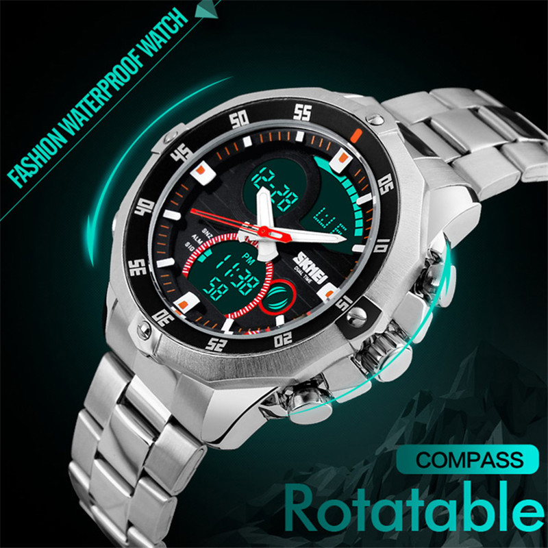 Sports Watch Men LED Display Relogio Masculino Digital Wrist Watch Montre Alarm Brand Waterproof Quartz Watch Fashion Kol Saati цена и фото
