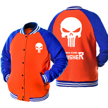 Punisher Skull Casual Fashion Full Sleeves Baseball Jackets