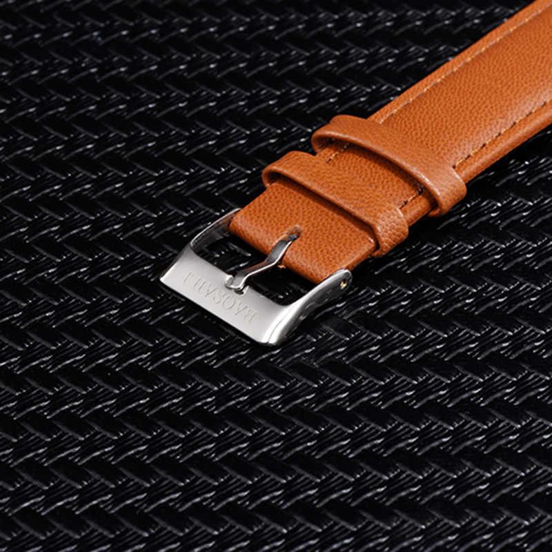 B-9207 moda bilek saatler ayçiçeği kadınlar renkli manzara saatler bayanlar deri Analog kuvars saat Relojes Feminino