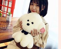 middle size plush lovely big head dog toy cute white dog doll gift about 32cm 2974