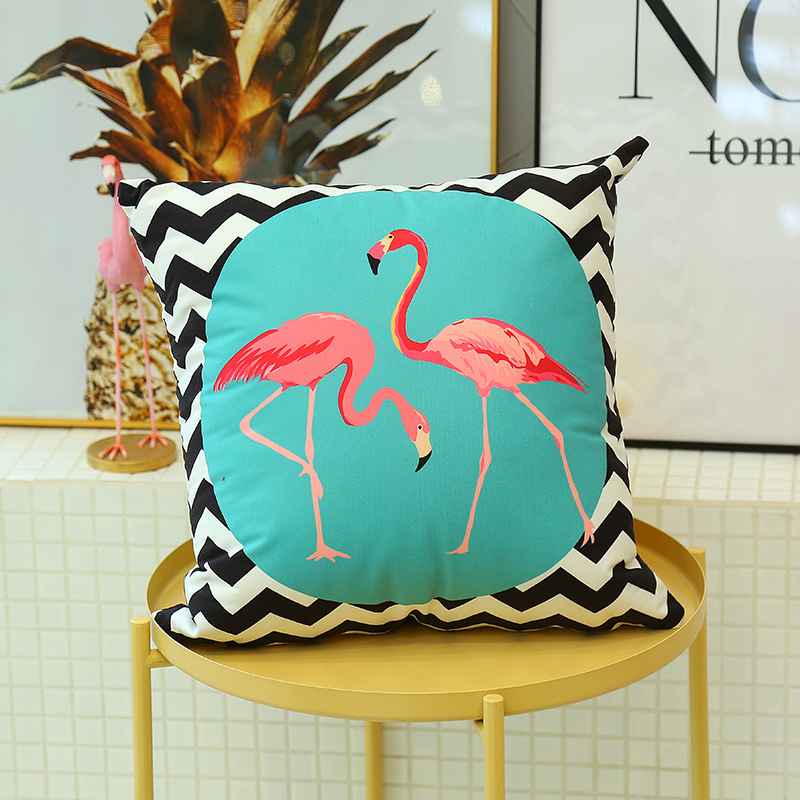 Cute Flamingo Cushion Pillow Case Flamingo Party Bedroom Sofa Home Decoration accessories Birthday/Wedding Favors and Gifts 14