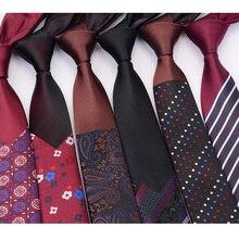RBOCOTT модные тонкие галстуки мужские галстуки 6 см Новинка Роскошные клетчатые Цветочные полосатые галстуки обтягивающие красные синие коричневые для мужчин Свадебная вечеринка
