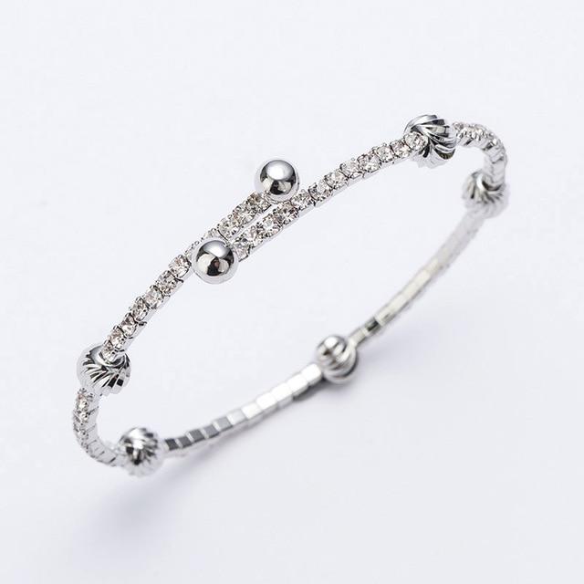 Mark Beryy till Hot fashion Austrian rhinestone bracelet silver