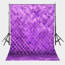 5x7ft Ultra Violet Color Backdrop Diamond Blocks Photography Background for Photo Shoot Studio Props