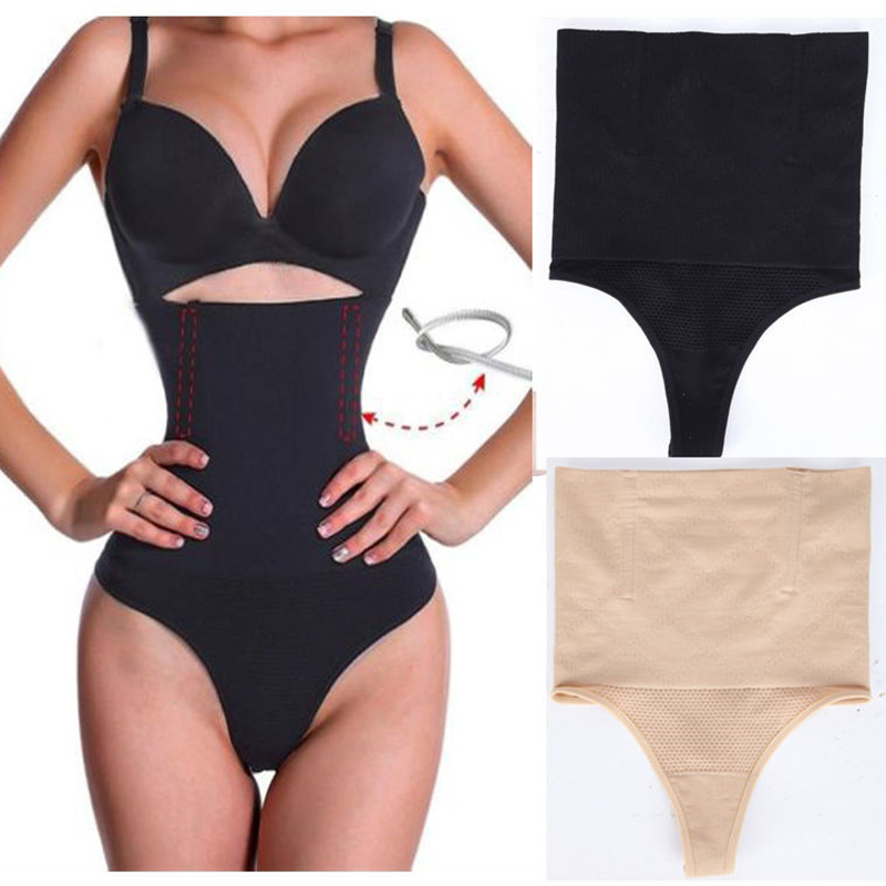 5e2c052cd9c SJASTME Women High Waist Panty Brief Body Shaper Tummy Control Belt  Underwear Shapewear Belly Girdle Slimming Thong Panties