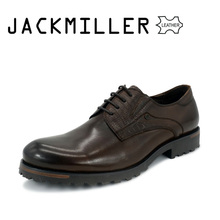 Jackmiller 2018 New Men Dress Shoes Fashion High Quality Men Oxford Shoe Lace-up Brand Men Genuine Leather Wedding Brown 39-45