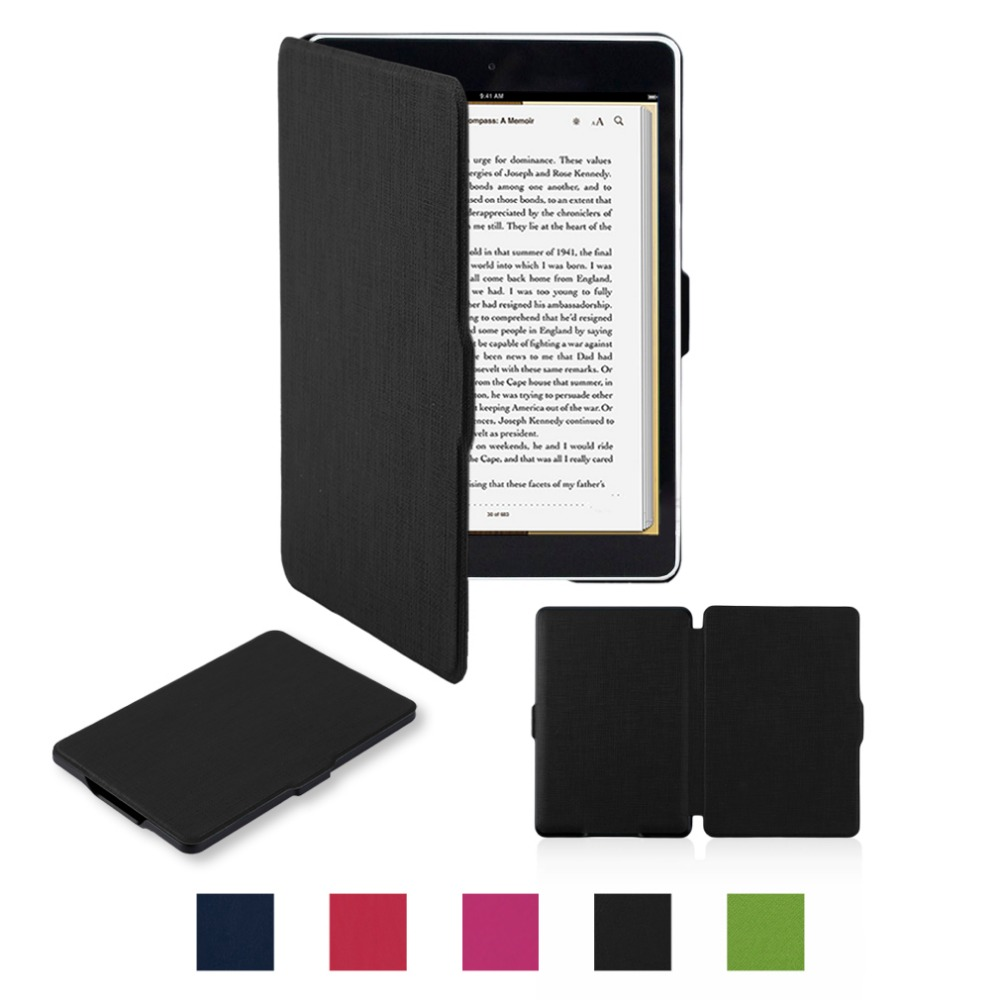 Paperwhite Leather Case Stand Holder Cover Classic Original Protect Screen PU Leather Case Smooth Surface Bracket For Kindle 247 classic leather