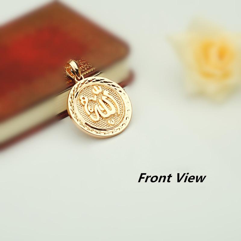 Image 5 - Turkey Islamic Allah Pendant New Fashion Pendant Rose 585 Gold  Color Muslim Jewelry Accessories Women and Men Necklace Pendantsf  pendantislam allahmuslim jewelry
