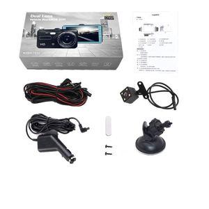 """Image 5 - Çizgi kam çift Lens Full HD 1080P 4 """"IPS araba dvrı araç kamerası ön + arka gece görüş Video kaydedici g sensor park modu WDR"""