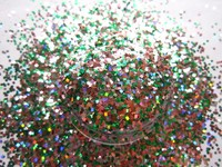 Sparkle Small Glitter Dust Laser Holographic Green Nails Tips Dazzling Hexagon Nail Art and Glitter Crafts