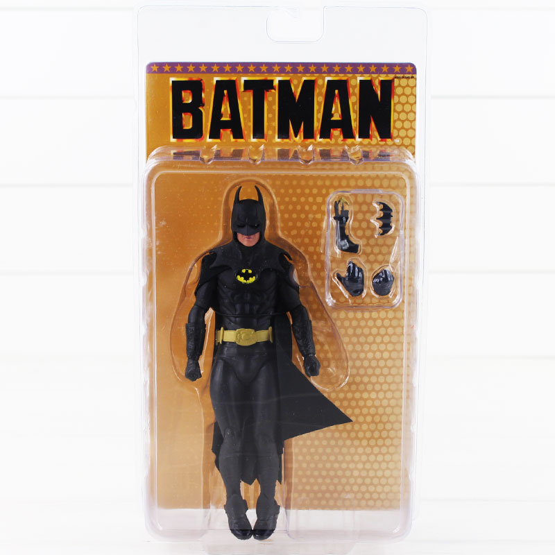 NECA 1989 Batman Michael Keaton 25th Anniversary PVC Action Figure Toy neca planet of the apes gorilla soldier pvc action figure collectible toy 8 20cm