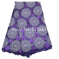 African Lace Fabric Swiss Voile Lace Fabric Heavy Big Design Wholesale And Retail Free Shipping Cotton