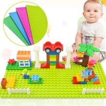 Tumama Big Size Blocks Base Plate 32*16 Dots 51*25.5 cm Baseplate DIY Building Blocks Toys For Children Compatible Legoed Duplo