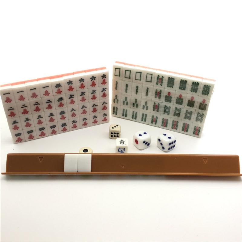 hot chinese board game mini travel mahjong set high quality organic glass