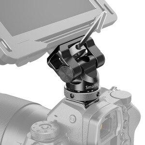 Image 4 - Soporte de cámara pequeña EVF giratorio, 360 grados e inclinación, montaje de Monitor de 140 grados con adaptador de micrófono para Flash de zapata fría, 2346