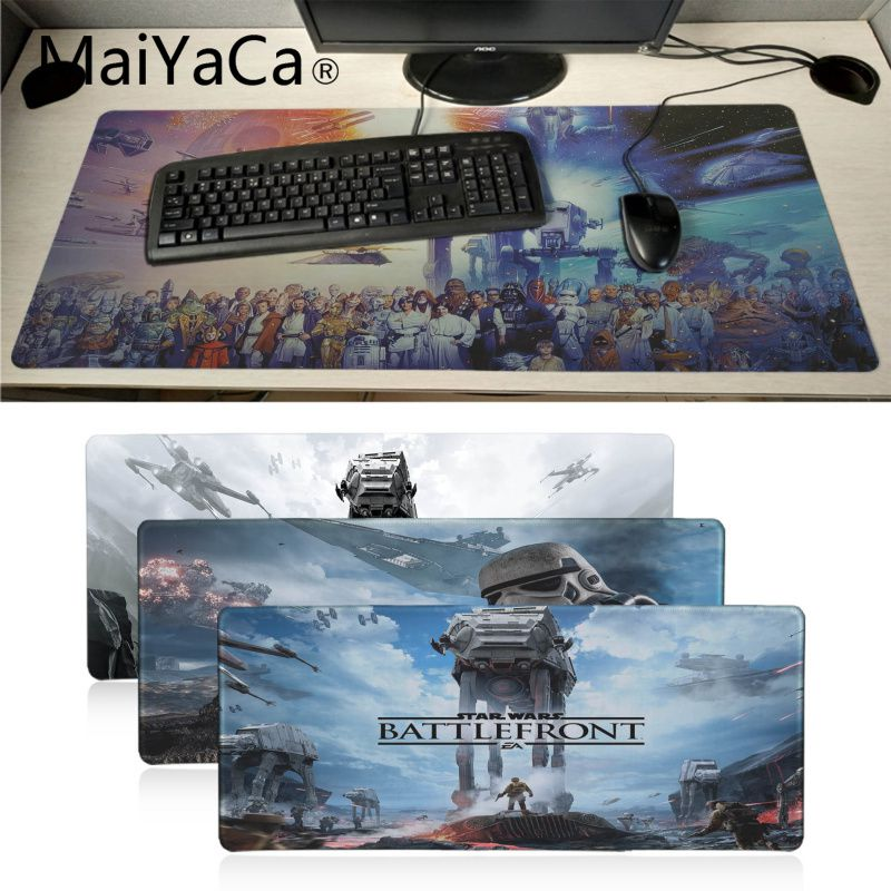 MaiYaCa In Stocked star wars High Speed New Mousepad Large Gaming Mouse Pad Anti-slip Perfect Locking PC Computer desk mat image