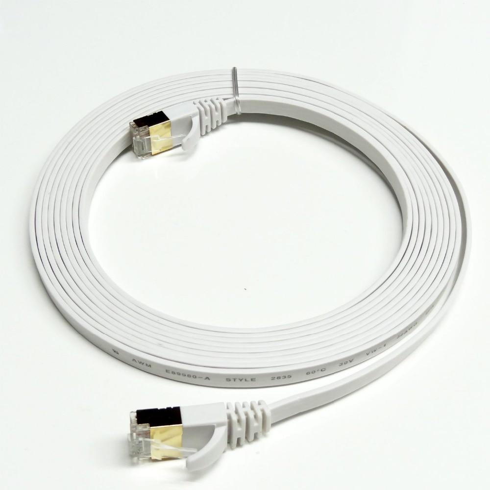 50ft 15 m cat7 rj45 cabo de rede lan ethernet do remendo para o interruptor do roteador banhado a ouro cat7 cabo de rede rj45 8p8c plugue banhado a ouro