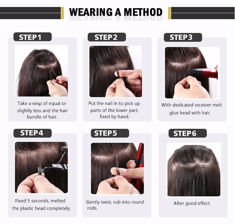 18-50G-Natural-keratin-Capsule-prebonded-U-Nail-Tip-Hair-Extension-flat-tip-hair-extensions-19color