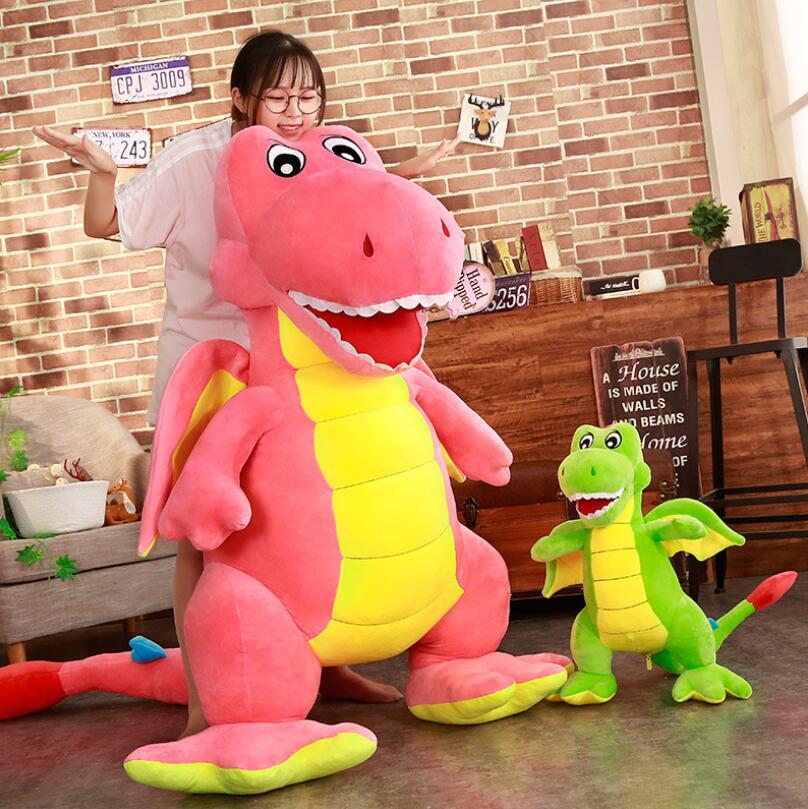 Оптовая продажа 55 см 1,8 м розовый зеленый динозавр чучело Плюшевые Stuffe динозавров, мягкие игрушки прекрасный моделирования кукла животных