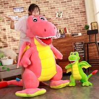 Wholesale 55cm 1.8m Pink green Dinosaur Stuffed Animal Plush Stuffe Dinosaur Stuffed Toys Lovely Simulation Animal Doll YH1520