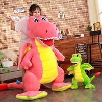 Wholesale 55cm 1.8m Pink green Dinosaur Stuffed Animal Plush Stuffe Dinosaur Stuffed Toys Lovely Simulation Animal Doll YH1520