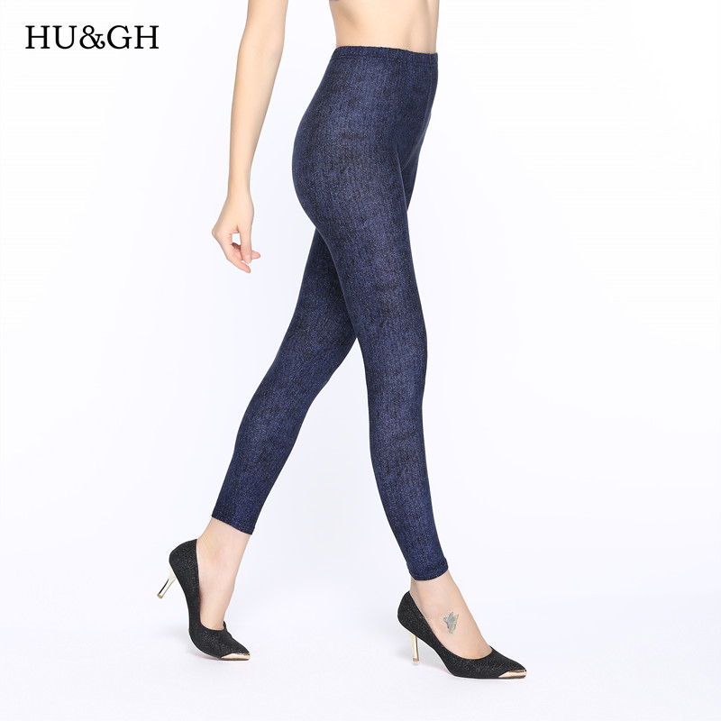 New 2018 Women   Leggings   Fashion Pure color Printed Slim Elastic Leggins Pant Casual Plus Size   Leggings   For Women Casual pants