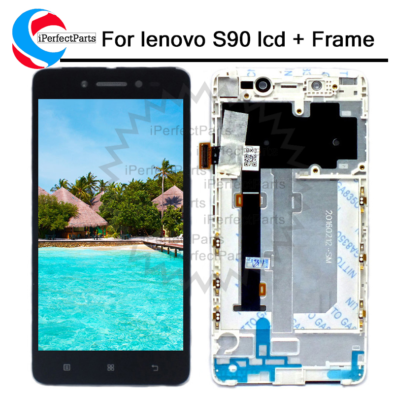 For 5 0 Lenovo S90 LCD Display Touch Screen Digitizer Assembly With Frame S90 T S90