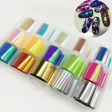 1 Box Holo Nail Art Starry Grass Paper Sticker Aurora Candy Color Nail Decals UV Gel DIY Nails Tips Wrap Decor Manicure Tools косилка роторная aurora grass 1400