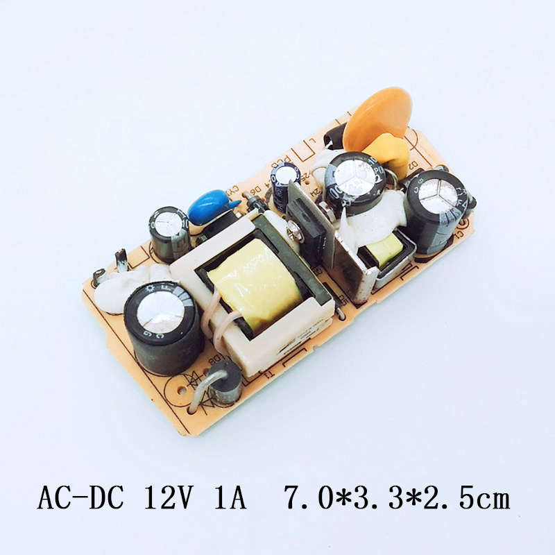AC-DC 12V 1A Switching Power Supply Circuit Module 12V 1000MA Monitoring Voltage Regulator LED Power Supply Board 100-240 V switching power supply adapter ac 90v 240v to dc 5v 300ma 1 5w buck converter voltage regulator driver module