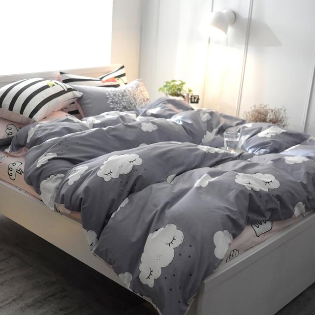 cdcbac8904 Impressão de Algodão série Da Floresta Jogo de Cama lençol Capa de Edredão  Macio E Confortável