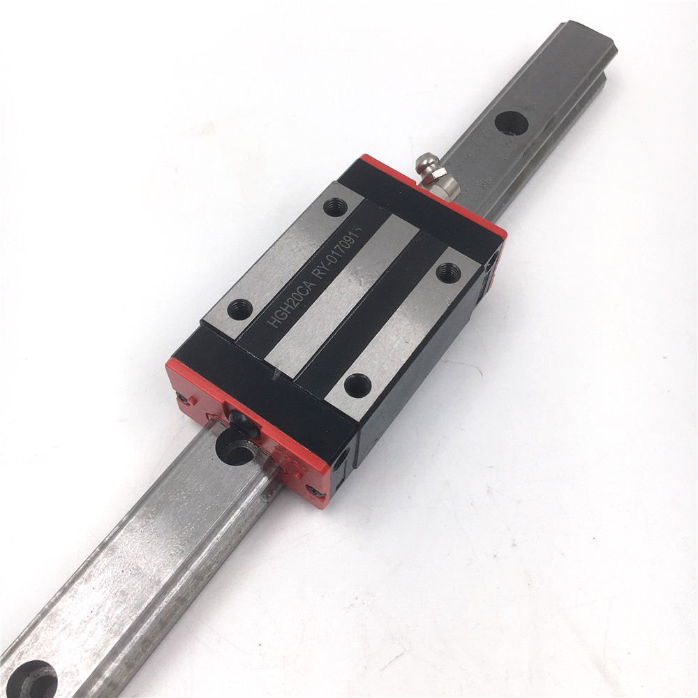 CNC Part HGR20 20mm Linear Rail Guide Length 500mm + 2pcs Rail Block HGH20CAZAC Preload Precision Replacement for HIWIN toothed belt drive motorized stepper motor precision guide rail manufacturer guideway