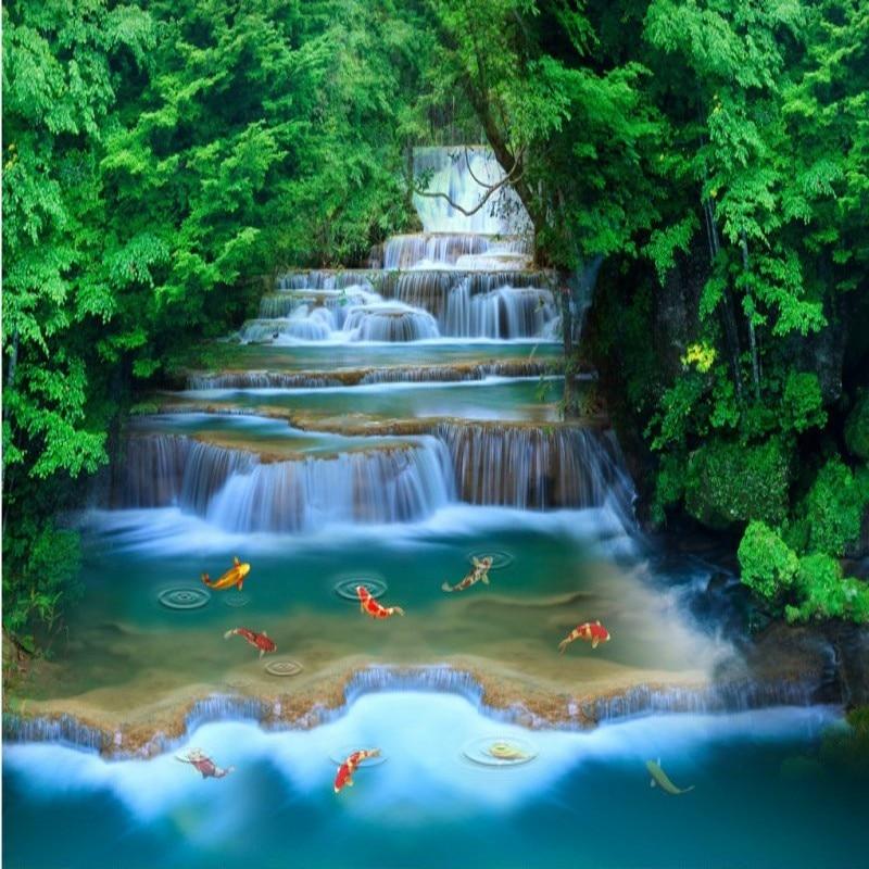 Home Garden Design Ideas Hd Desktop Wallpaper Instagram: Custom 3d Wallpaper HD Forest Landscape Mural Water Stream