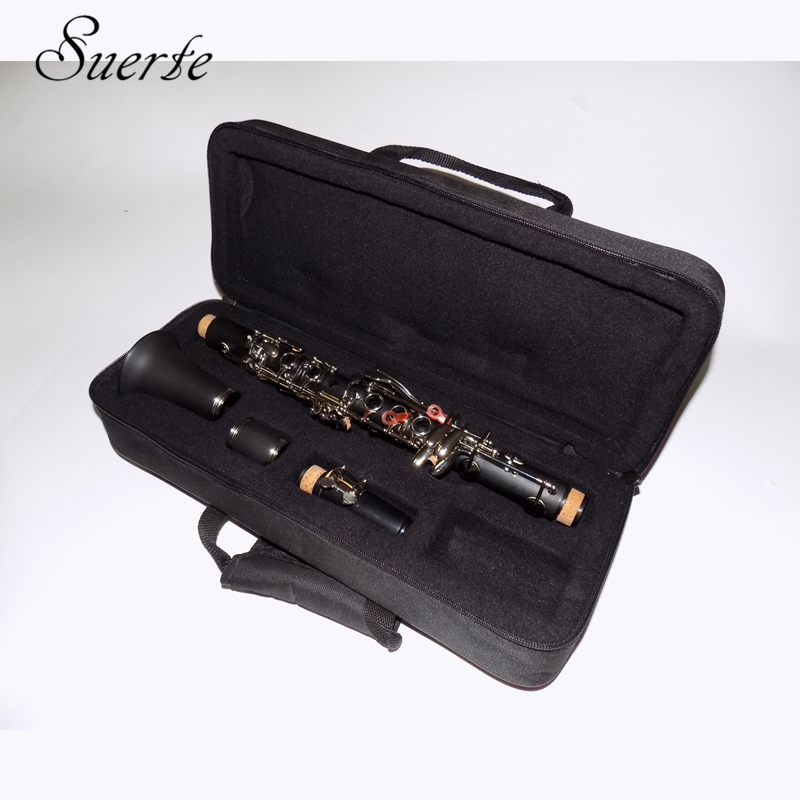 17 buttons Clarinet Eb key Boehm system Clarinets Bakelite Professional musical instrument clarinete in Clarinet from Sports Entertainment