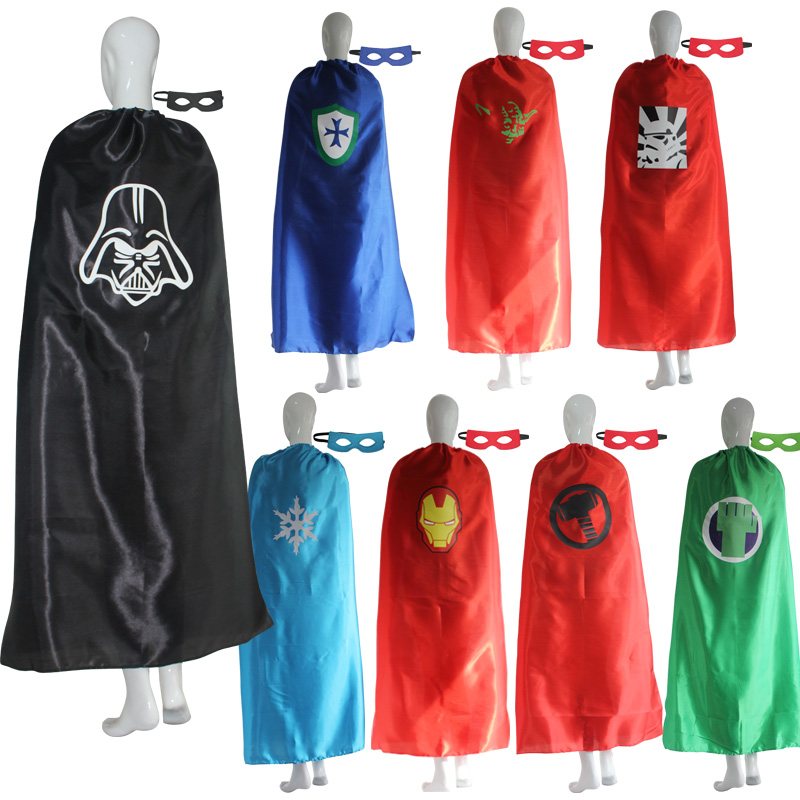 Adult Superhero Costume Cape with Mask for Halloween Party Christmas Costume Women