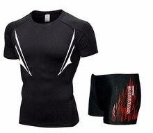 Мужская футболка для плавания Футболки и трусы Боксеры Шорты Купальники с короткими брюками Купальни